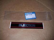 NEW OEM Mazda INJECTION Label BG 1.8 323 323F Protege Familia Escort GT 1.6 MX-3
