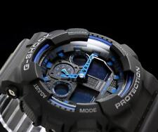 CASIO G-SHOCK, GA100-1A2 GA-100-1A2, LARGE FACE, MAGNETIC RESISTANT, BLACK, BLUE