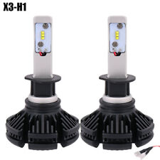 COPPIA LAMPADE X3 LED HEADLIGHT H1 LED CREE 6500K 6000 LUMEN 12V XENON FARI AUTO