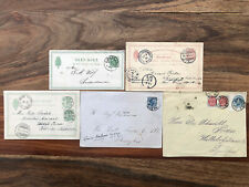 5 X DENMARK DANMARK OLD POSTCARD COVER COLLECTION LOT !!