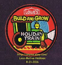 LMH PATCH Badge  HOLIDAY TRAIN Locomotive  LOWES Build Grow Project Series red