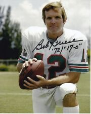 BOB GRIESE Signed Autographed NFL MIAMI DOLPHINS 17-0 Photo