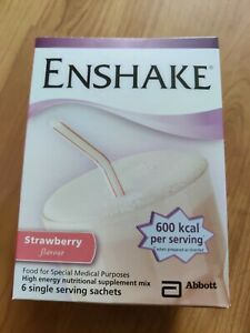 Enshake Sachets Strawberry (6 x 96.5g) High Energy Shake for Medical Purposes