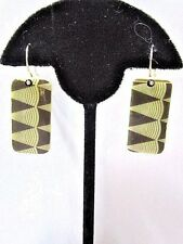 HANDCRAFTED MINI DOMINOES EARRINGS PIERCED CONTEMPORARY MODERN