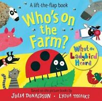 Whos on the Farm What the Ladybird Heard Lift the Flap Board Book Childrens Kids