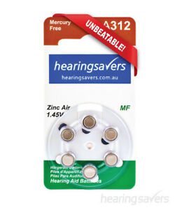 NEW HEARING SAVERS Hearing Aid Batteries size 312 from Hearing Savers