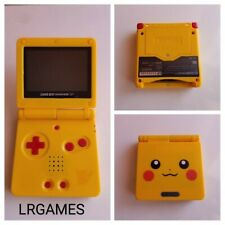 Nintendo Gameboy Advance SP Custom Pikachu Pokemon Yellow  System Model AGS-001