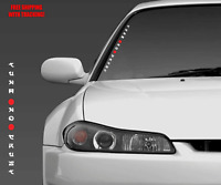 "Tuna No Crust Vertical Windshield Window Decal Sticker 21"" jdm For Paul Walker"