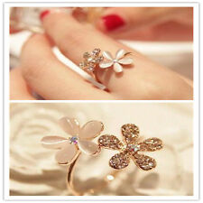 Neoglory Rhinestone Opal Adjustable Flower Finger Ring Alloy Fashion party SP