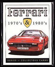 Ferrari 1970's & 1980's - Sammler Karte- Satz - DINO 308 F40 246 288 365 512