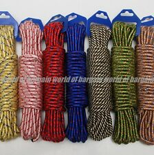 """1/4"""" thick 10M ROPE Camping Cord Clothesline Nylon Braided String Truck Tent S18"""