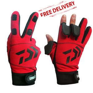 Mens Womens Waterproof Touch Screen Gloves 3 Finger Sports Fishing Hiking Winter