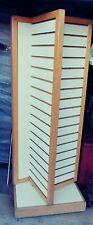 Tall Rotating Swivel Slatboard/Slatwall Tower On Wheels 4 Sided Floor Display