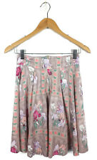 REVIEW Skirt- Vintage Style Cotton Pleated A-line Floral Iris Pink Mauve Green 6