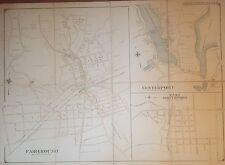1909 HUNTINGTON FAIRGROUND NORTHPORT CENTERPORT SUFFOLK LI NY COPY ATLAS MAP
