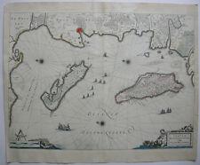 France France Bretagne Isle D 'OLERON Ré Orig CUIVRE clés carte Bleau 1647
