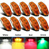4/10X Amber LED Side Marker Light Front 12V-24V Car Van Truck Trailer Lorry Lamp
