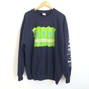 Gildan Vintage 2003 RiverWalk Men's Sweatshirt - Blue - XL - Jumper