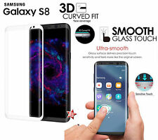 PELLICOLA IN VETRO 3D CURVO FULL SCREEN HD 9H ARGENTO per SAMSUNG GALAXY S8