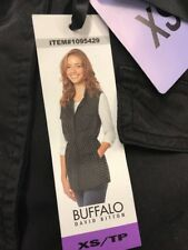 NWT! Womens Buffalo David Bitton Lightweight Black Denim Vest Size XS