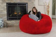 Red Fur Bean Bag XXXL Size Cover without Beans (FREE SHIPPING)