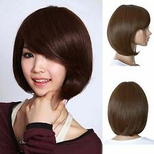 Fashion New BOB Style Short Straight Curly Hair Wig Cosplay Party Full Wigs
