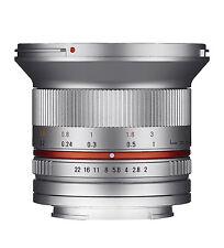 Samyang 12mm F2.0 NCS CS Ultra Wide Angle Lens for Fuji X Mount Silver Ca1775