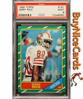 1986 Jerry Rice Topps RC Rookie #161 PSA 9 Mint