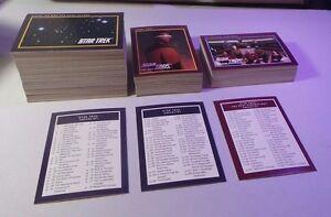 Star Trek: The Next Generation 1991 Paramount 310 Card COMPLETE Set NM/MT