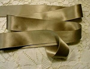 """1"""" WIDE DOUBLE FACE SILK SATIN RIBBON -  TAUPE # 117- by the yard"""