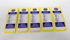 Chevrolet Chevy Service Authorized Lube Lubrication Door Sticker Set of 5