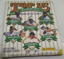 Baseball Top 15 Complete Album Stickers Panini