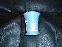 "Blue Jasper Wedgewood WH Made in England Small Vase 57  4"" Tall Mini"