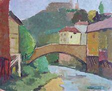 Myra L. THOMAS (XX) HsP Années 50 Fifties Provence Cubiste Kubist Cubist Fauve