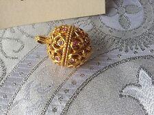 Edgar Berebi Limited Edition Faberge Tatiana Egg Pendant Necklace
