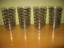 Vintage Atomic Mid Century Modern Highball Glasses Federal Glass Co.