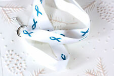 Teal Awareness Ribbon - Cancer awareness - Survivor Ribbon Lanyard