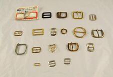 Lot of 19 Vintage Belt Buckles Black Copper Gold & Silver Tone   S2Y14