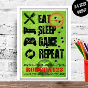 Personalised XBOX Birthday gift for son or daughter ANY NAME OR GAMER TAG X Box