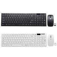 Schlankes 2,4-GHz-Kabelloses Tastatur- und Mausset USB-PC-Laptop in voller Größe