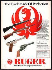 1993 RUGER .22 Rimfire Rifle, Pistol, Revolver Gun AD Old Advertising