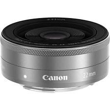 Canon EF-M 22mm f/2.0 STM Pancake Lens for EOS M - Silver - Bulk Pack UU