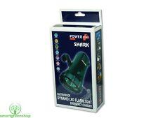 POWERplus Shark Impermeable Resistente LED Dinamo Linterna y cargador móvil