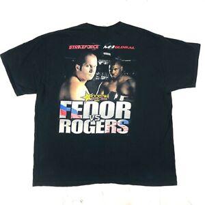 Vintage FEDOR vs ROGERS STRIKEFORCE T SHIRT Original MMA M-1 GLOBAL Sz 2XL