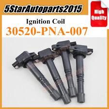 4pcs Denso 30520-PNA-007 Ignition Coil for Honda Accord Civic CR-V Acura 2.0 2.4