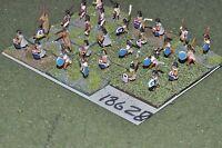 15mm renaissance / aztec - warriors 28 figures - inf (18628)