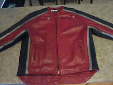 Mens SCHOTT X MCMXIII Red Genuine Leather Motorcycle Jacket Sz XXL 2XL CA38494