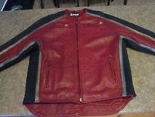 Mens SCHOTT X MCMXIII Red Genuine Leather Motorcycle Jacket Sz XXL 2XL CA38494