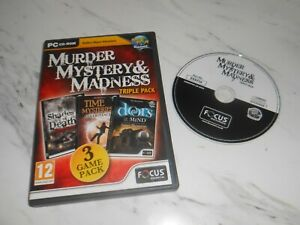 Murder, Mystery and Madness Triple Pack (PC CD), VGC - Big fish Hidden OBJECT