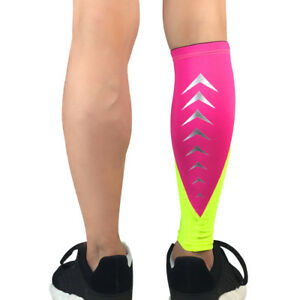 Sports Protection Leg Socks Sleeve Calf Support Exercise Reflective Strip Design